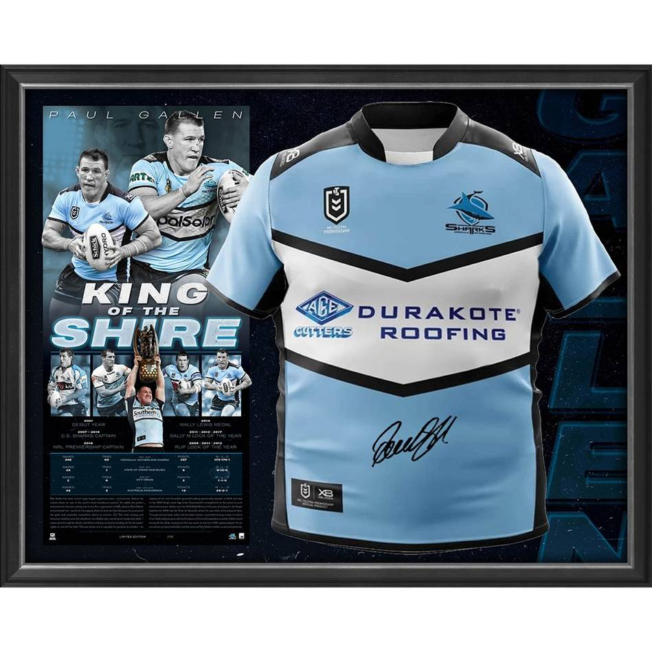 mainPaul Gallen Signed 'King of the Shire' Retirement Jersey Display0