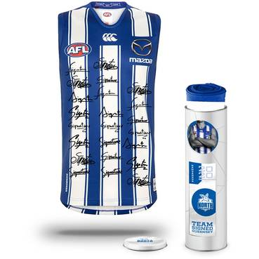 North Melbourne Football Club 2020 Team Signed Guernsey