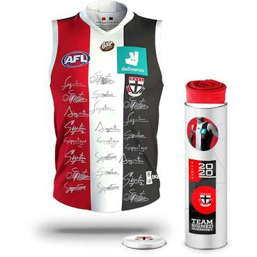 St Kilda Football Club 2020 Team Signed Guernsey