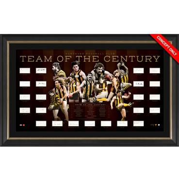 Hawthorn Football Club Team of the Century Signed Lithograph