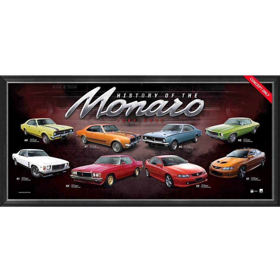 mainHolden 'History of the Monaro' Framed Print0