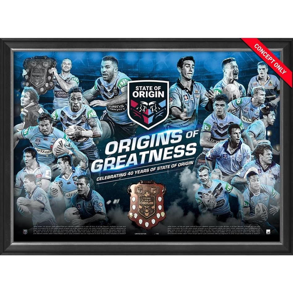 mainNSW Blues 'Origins of Greatness' Framed Print0