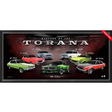 Holden 'History of the Torana' Framed Print