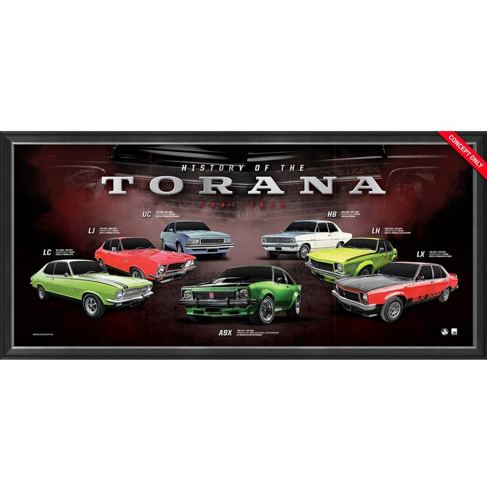 mainHolden 'History of the Torana' Framed Print0