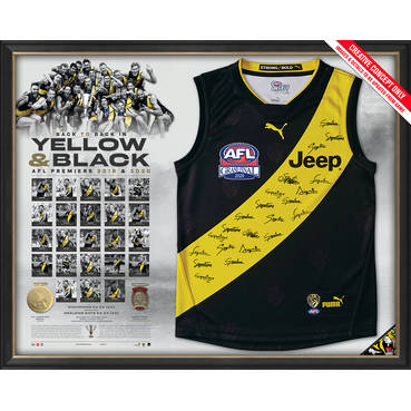 Richmond 2020 Premiers Team Signed Guernsey