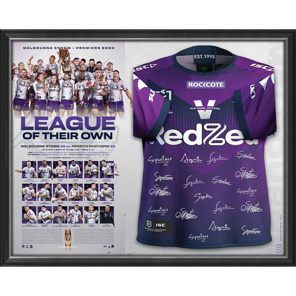 mainMelbourne Storm 2020 Premiers Team Signed Jersey0