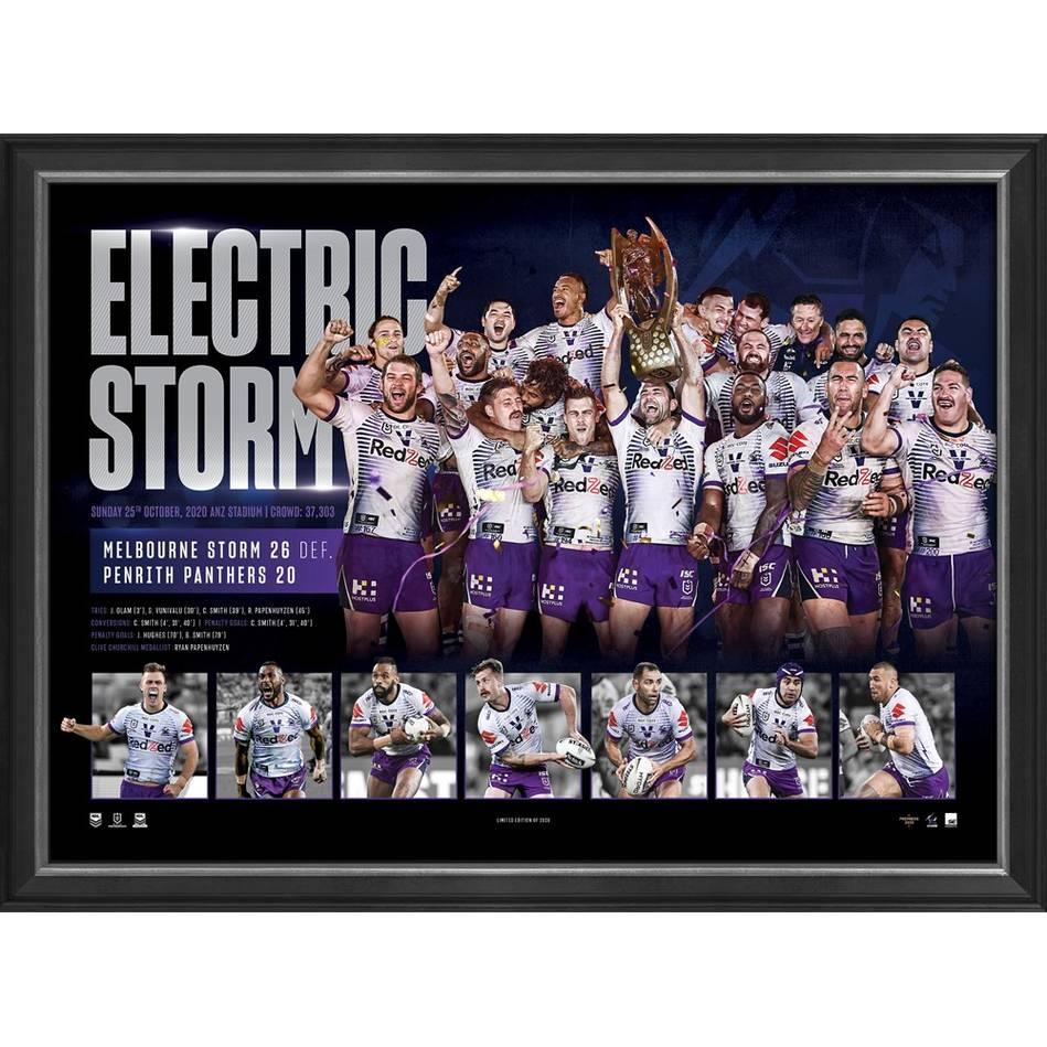 mainMelbourne Storm 2020 Premiers Framed Sportsprint0