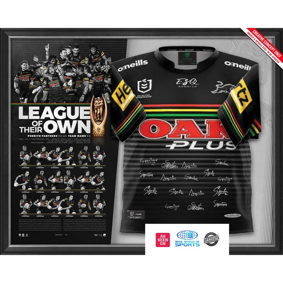Penrith Panthers 2021 Premiers Team Signed Jersey0