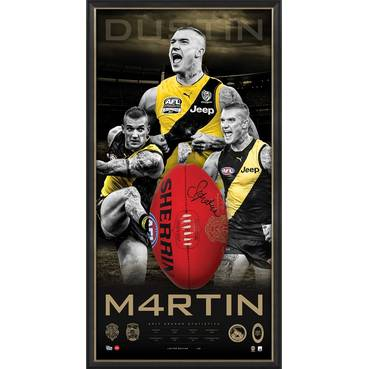 DUSTIN MARTIN BROWNLOW SIGNED BALL