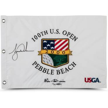 TIGER WOODS SIGNED 2000 U.S. OPEN PIN FLAG